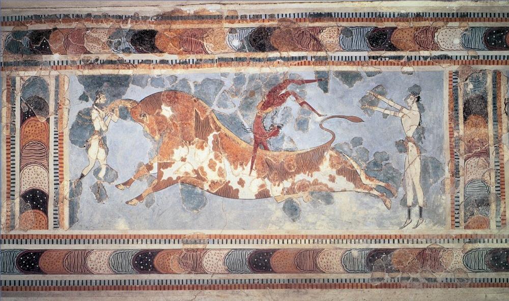 Knossos_Bull-Leaping_Fresco Wikipedia